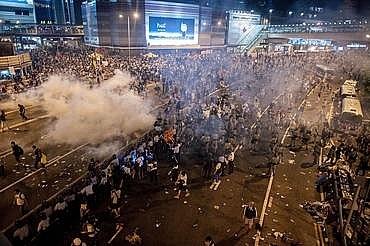 香港のデモ活動