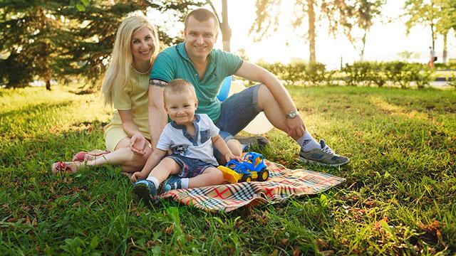休日の家族