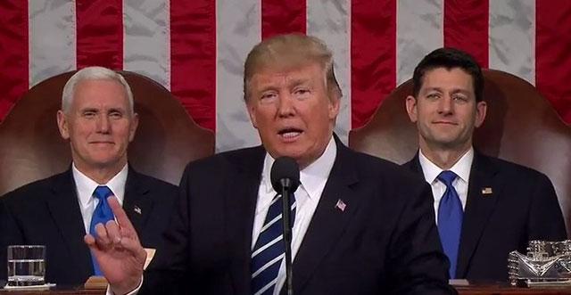 トランプ大統領の議会演説