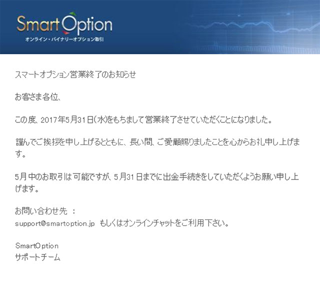 スマートオプション_閉鎖メール