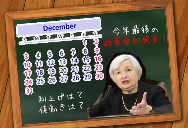 今年最後のFOMC政策金利発表!