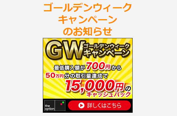 GW中にたくさん取引をしよう!GWキャンペーンを実施中!