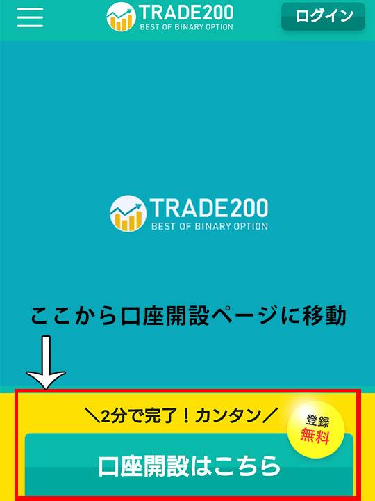 トレード200は口座開設方法を動画で確認できる!