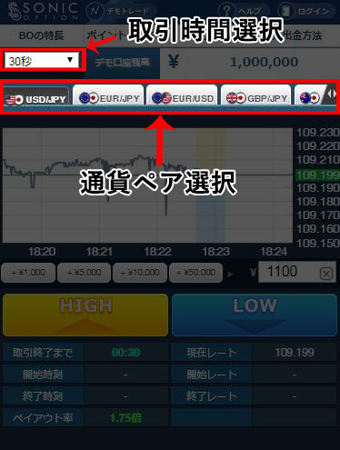 通貨ペアと取引時間の画像